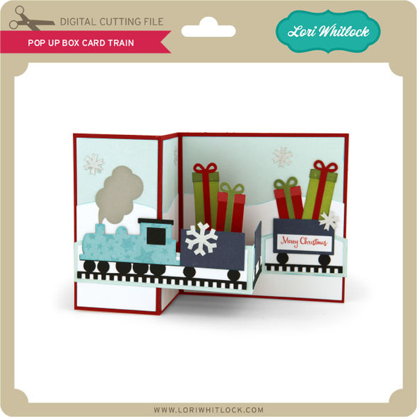 Pop Up Box Card Train