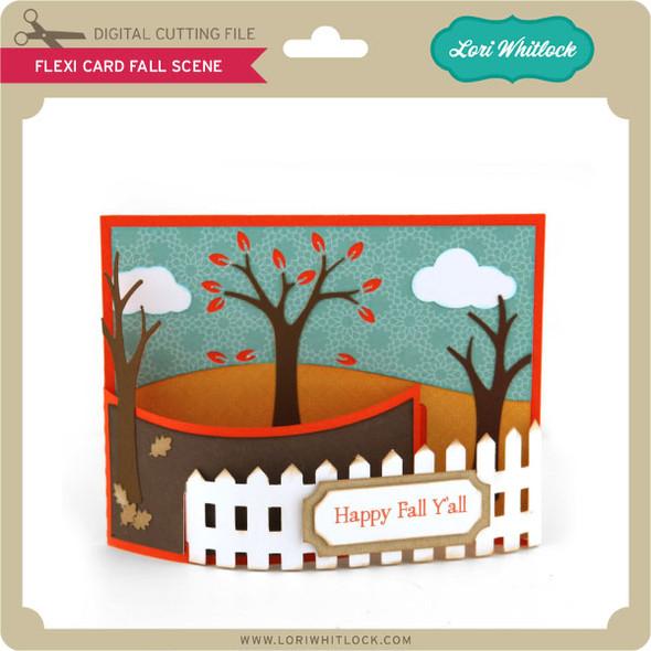 Flexi Card Fall Scene