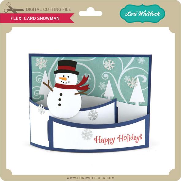 Flexi Card Snowman