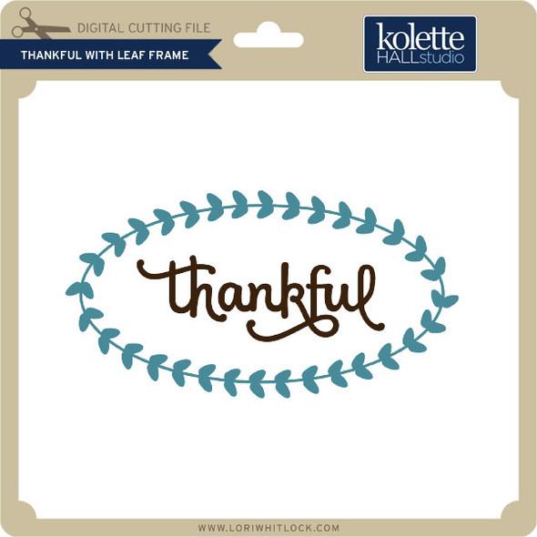 Thankful with Leaf Frame