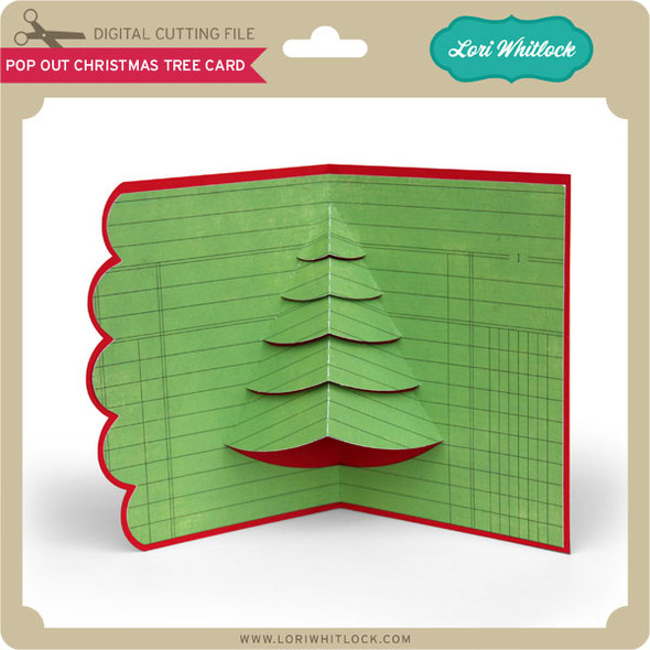 Pop Out Christmas Tree Card