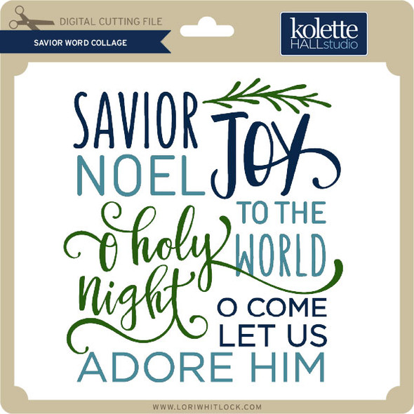 Savior Word Collage
