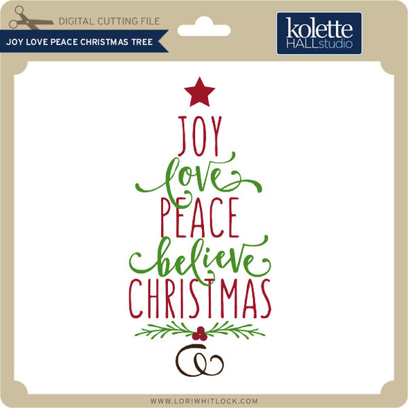 Joy Love Peace Christmas Tree