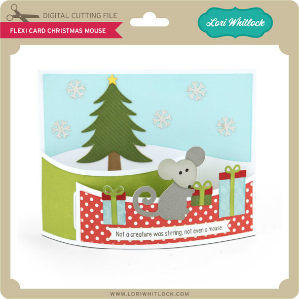 Flexi Card Christmas Mouse