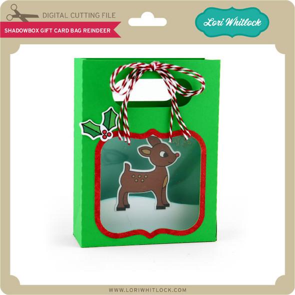 Shadowbox Gift Card Bag Reindeer
