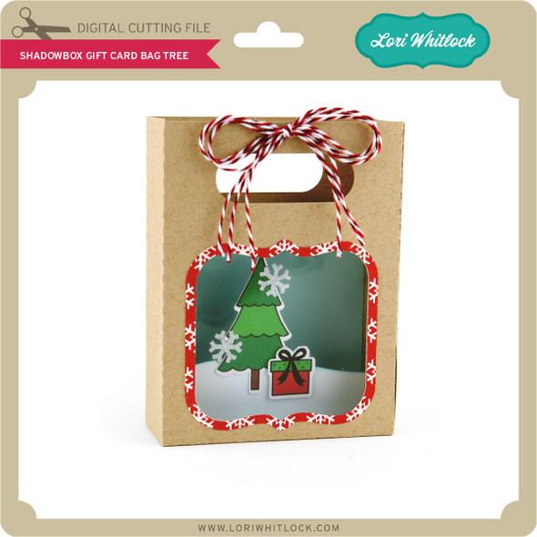 Shadowbox Gift Card Bag Tree
