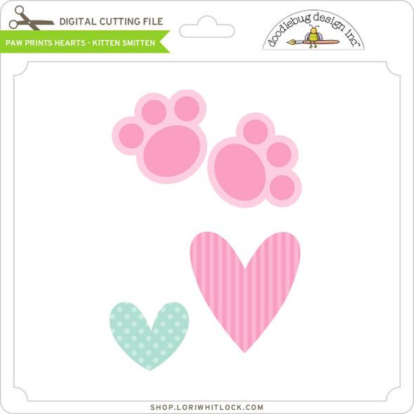 Paw Prints Hearts Kitten Smitten
