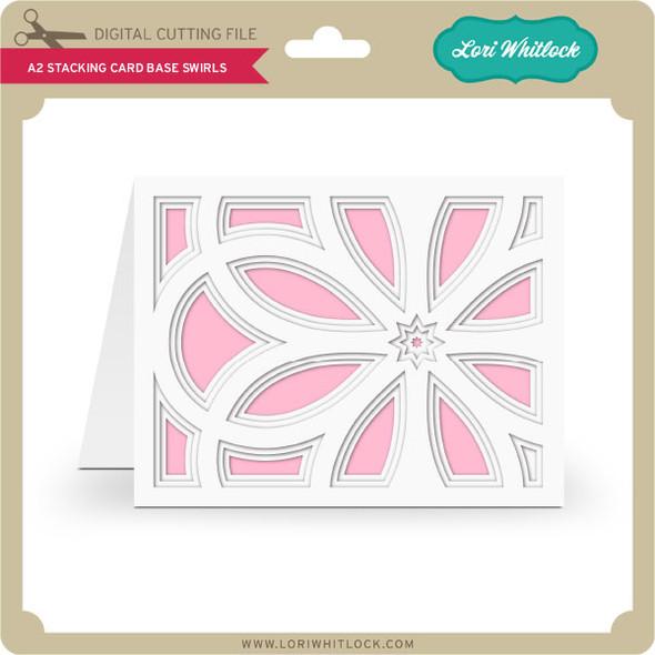 A2 Stacking Card Base Swirls