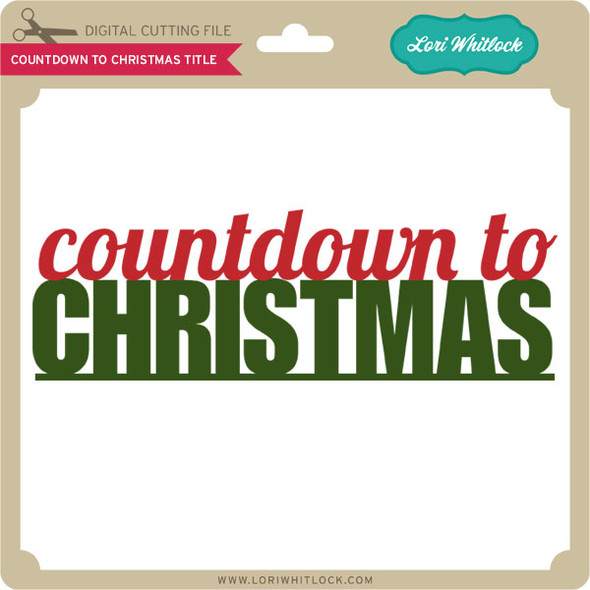 Countdown to Christmas Title
