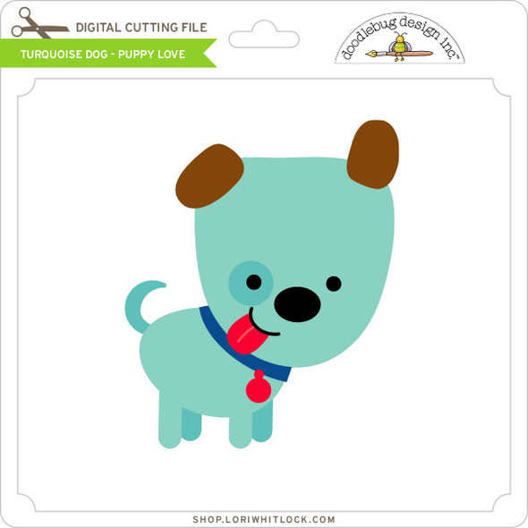 Turquoise Dog Puppy Love