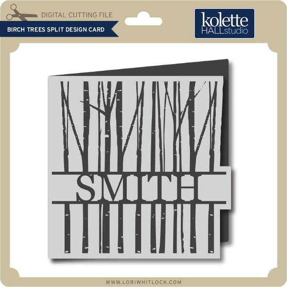 Birch Trees Split Design Card