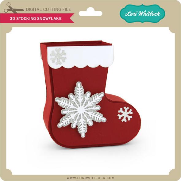 3D Stocking Snowflake