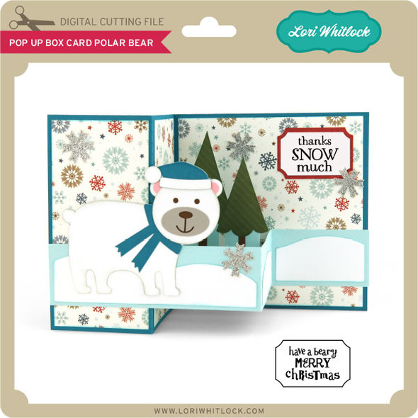 Pop Up Box Card Polar Bear