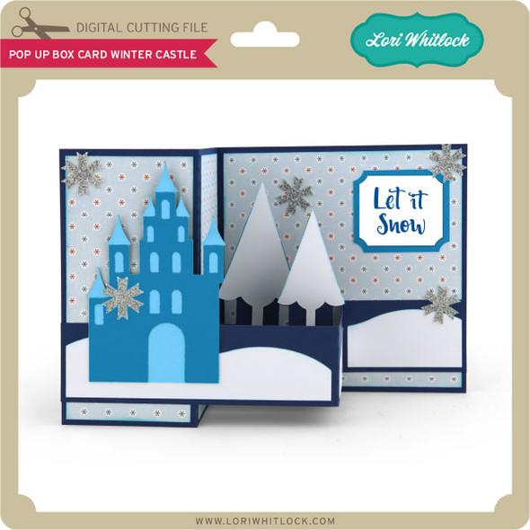 Pop Up Box Card Winter Castle