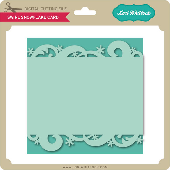 Swirl Snowflake Card