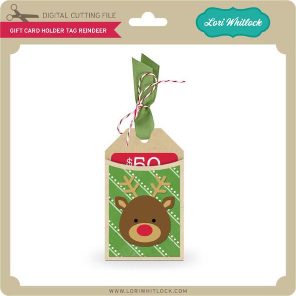 Gift Card Holder Tag Reindeer