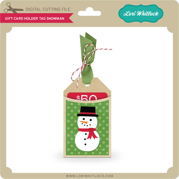 Gift Card Holder Tag Snowman