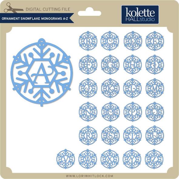 Ornament Snowflake Monograms A Z