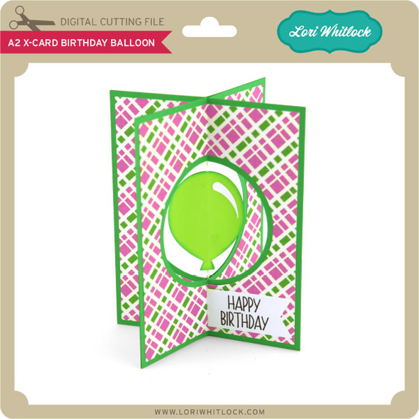 A2 X-Card Birthday Balloon