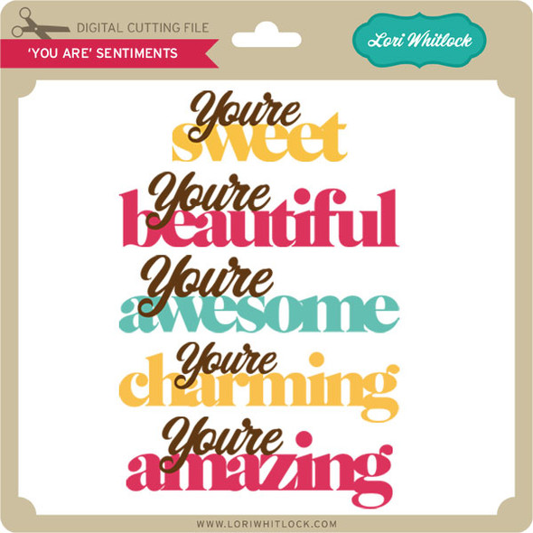 """""""You Are"""" Sentiments"""