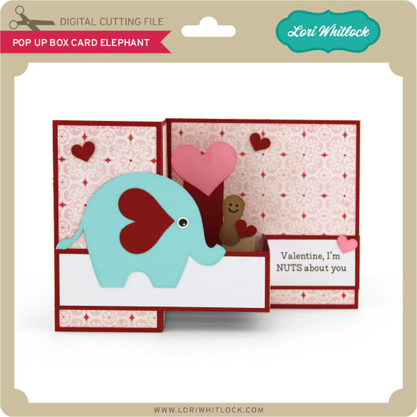 Pop Up Box Card Elephant