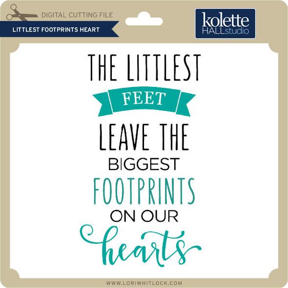 Littlest Footprints Heart