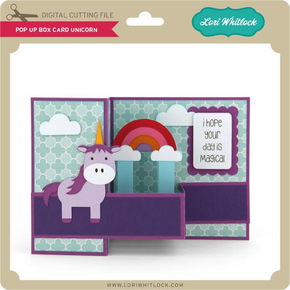 Pop Up Box Card Unicorn