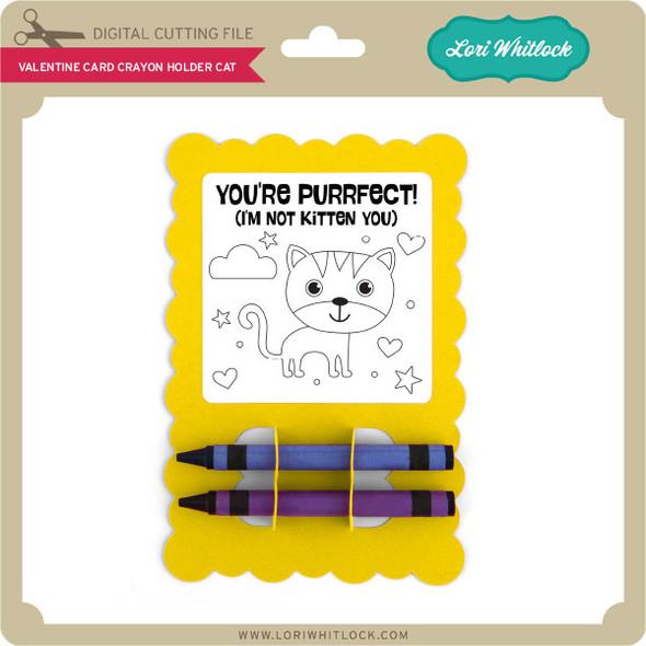 Valentine Card Crayon Holder Cat