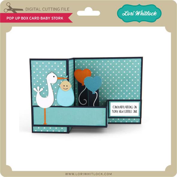 Pop Up Box Card Baby Stork