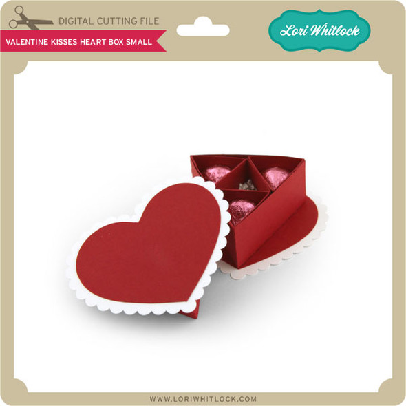 Valentine Kisses Heart Box Small
