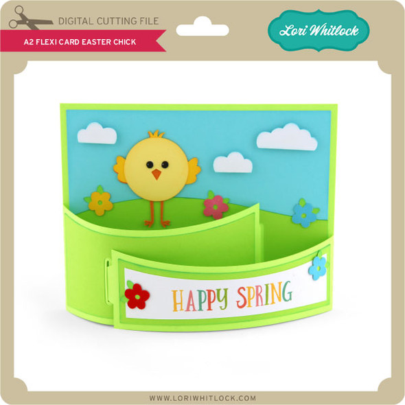 A2 Flexi Card Easter Chick