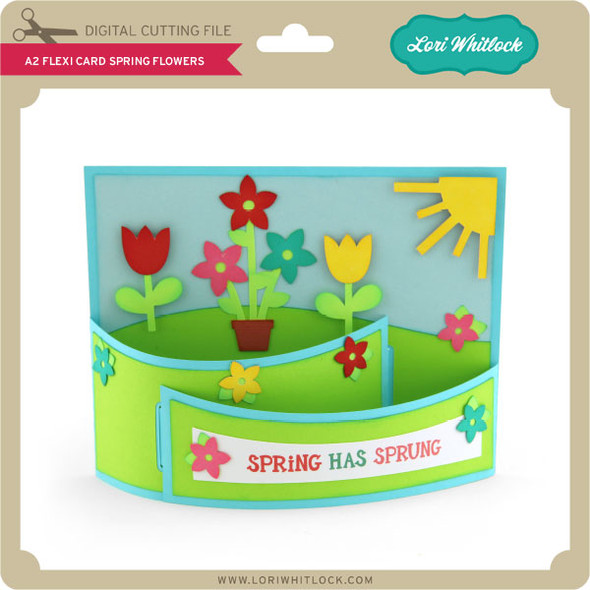 A2 Flexi Card Spring Flowers