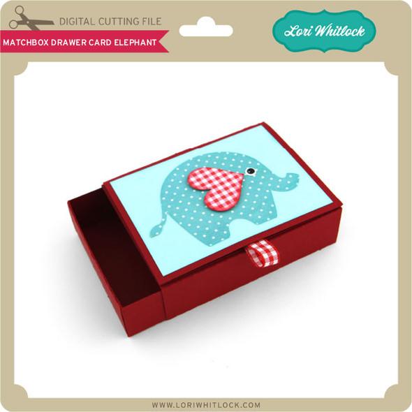 Matchbox Drawer Card Elephant