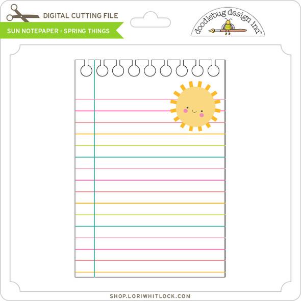 Sun Notepaper - Spring Things
