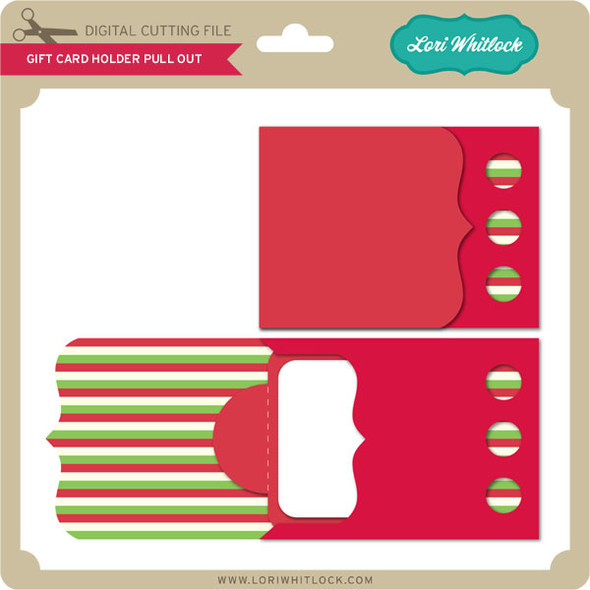 Gift Card Holder Pull Out