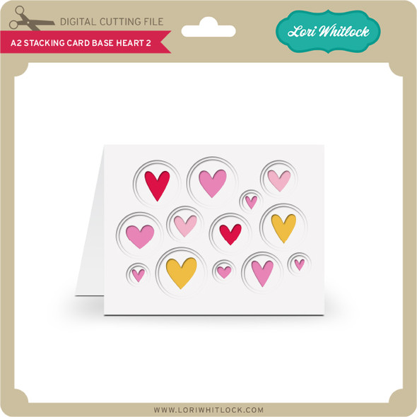 A2 Stacking Card Base Heart 2
