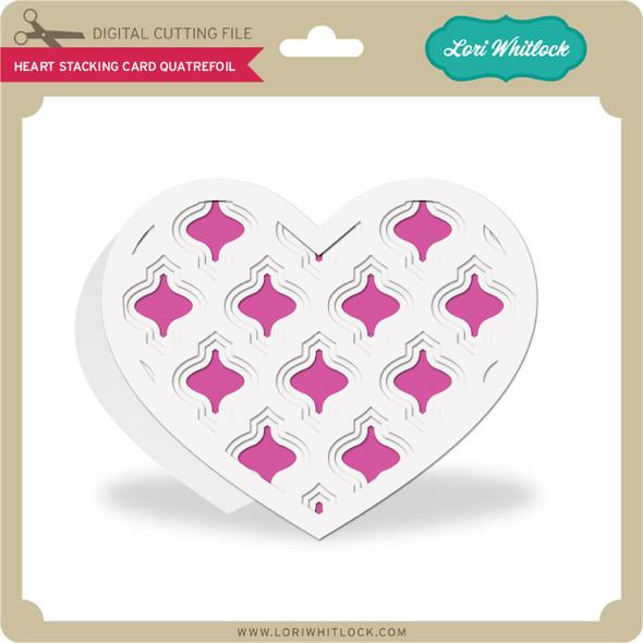 Heart Stacking Card Quatrefoil