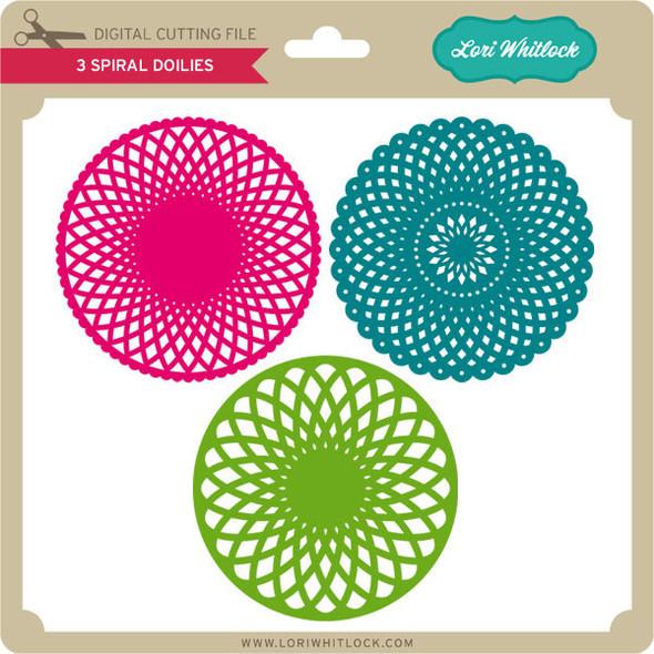 3 Spiral Doilies