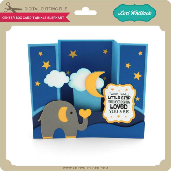 Center Box Card Twinkle Elephant