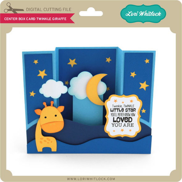 Center Box Card Twinkle Giraffe