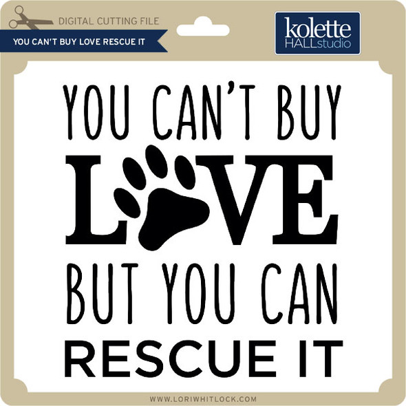 You Can't Buy Love Rescue It