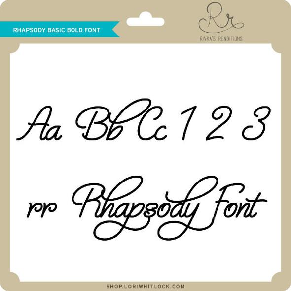 Rhapsody Basic Bold Font