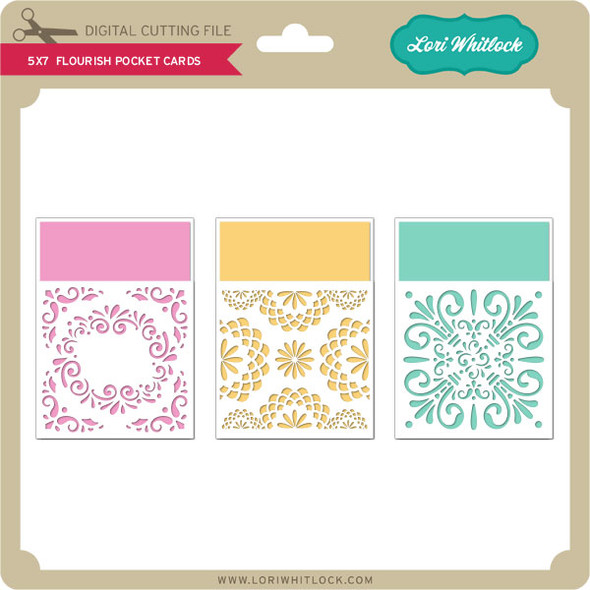 5x7 Pocket Flourish Cards