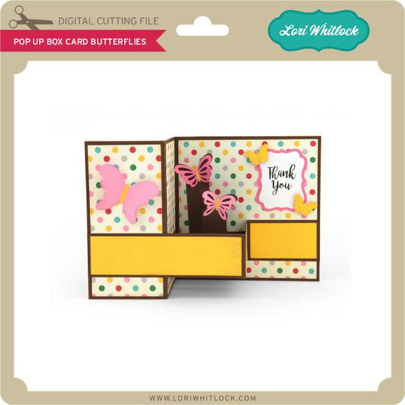 Pop Up Box Card Butterflies 2