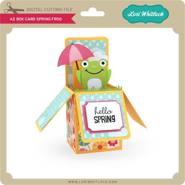 A2 Box Card Spring Frog
