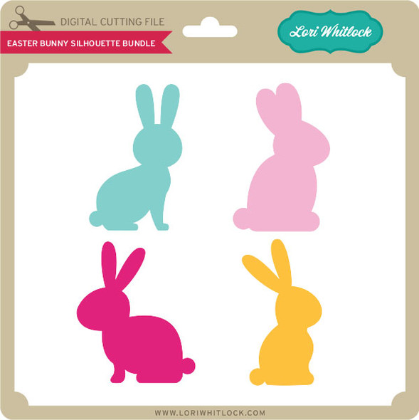 Easter Bunny Silhouette Bundle