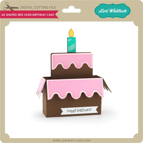 A2 Shaped Box Card Birthday Cake