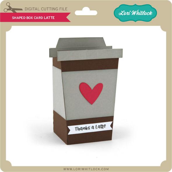A2 Shaped Box Card Latte