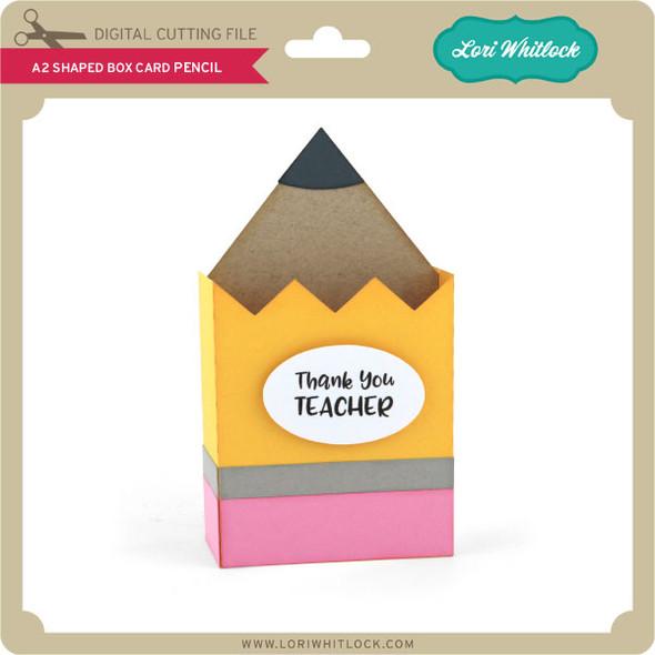 A2 Shaped Box Card Pencil