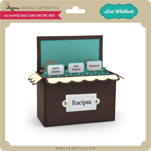 A2 Shaped Box Card Recipe Box
